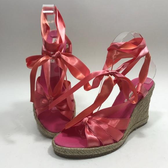 8fa16e16953 Tommy Hilfiger Espadrilles Sandals Wedges Pink 8